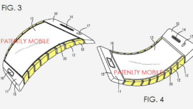Photo de Samsung dépose un brevet de smartphone partiellement flexible